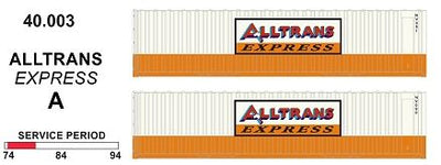 40' SDS Models: 40' Jumbo Containers: Twin Pack A : ALLTRANS EXPRESS: 40.003