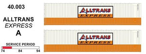 SDS Models: 40' Jumbo Containers: Twin Packs: ALLTRANS EXPRESS A : 40.003