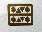 AM Models : AM-2 NSWGR Standard Train Tail Discs - Etch Brass.