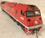AN Class 2nd Hand AUSCISION AN3 THE GHAN LOCOMOTIVE RUNS WELL GOOD CONDITION.