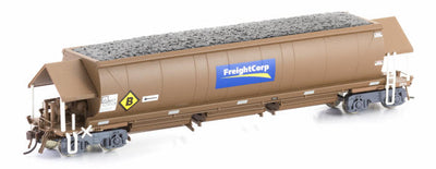 Auscision Models: NHFF Coal Hopper, FreightCorp Weathered Brown 6 car pack. #NCH 19 .