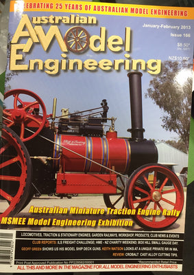 AUSTRALIAN MODEL ENGINEERING JANUARY - FEBRUARY 2013 ISSUE  166