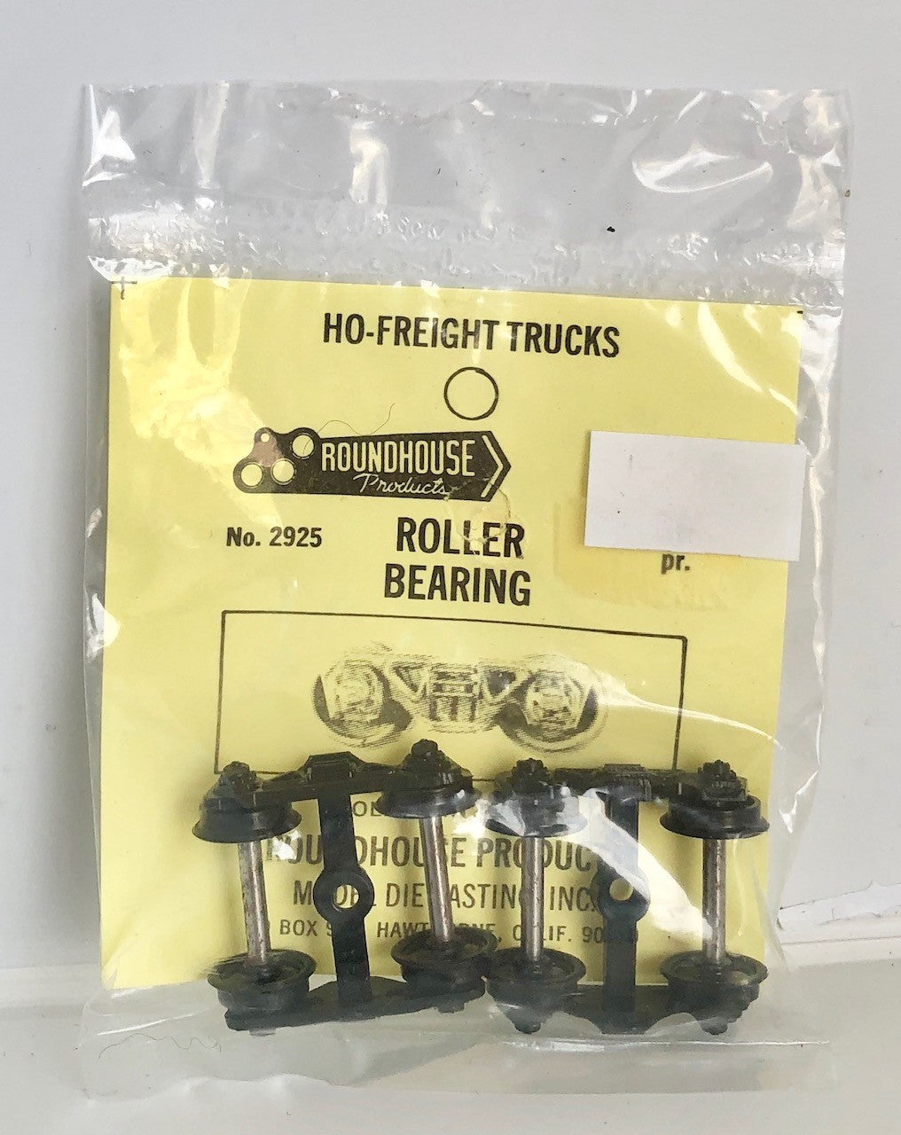 Walthers: ROUNDHOUSE No2925 ROLLER BEARING BOGIES HO FREIGHT TRUCKS