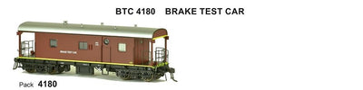 SDS Models: Guards Van: BTC 4180 Brake Test Car: Pack 4180