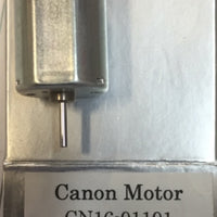 02. CANON: MOTOR, 20mm L x 16mm W with 1.5mm x 7mm shaft CANON MOTOR 12 VOLTS SINGLE END SHAFT. *