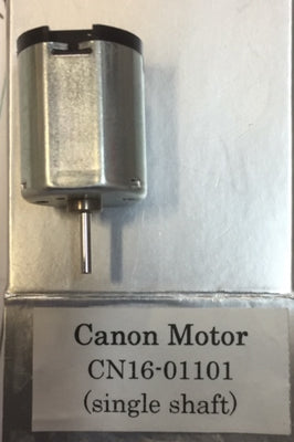 CANON: 20 mm long x 16 mm wide with 1.5 mm shaft CANON MOTOR 12 VOLTS SINGLE END SHAFT. *