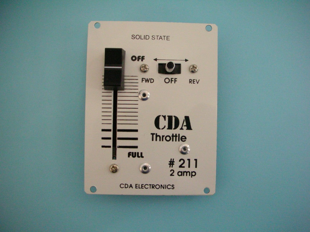 CDA: #211  2 AMP PANEL MOUNT CONTROLLER/THROTTLE