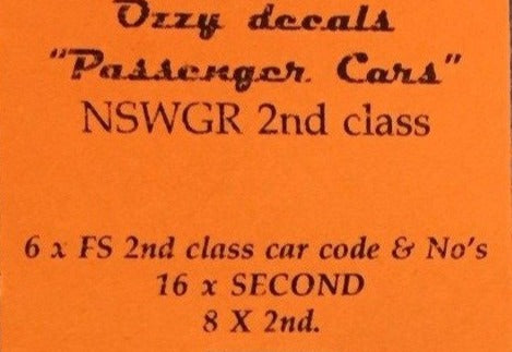 OZZY PASSENGER CAR DECAL : CHSK 31W  for Candy Livery White words & codes for FS 2nd class car See description below.