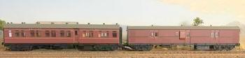 RRP $285 : SAVE $35: CR-EHO R Type Cars CR1375 Ind-Red Composite Car+ EHO1462 Ind-Red Brake Van Casula Hobbies RTR. *