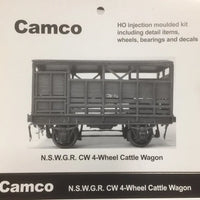 "CAMCO ""CW"" 4 wheel Cattle Wagon N.S.W.G.R. HO Plastic KIt."
