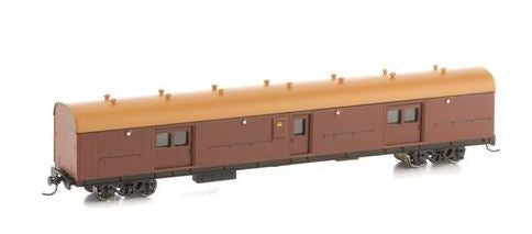 LHY Casula Hobbies: RTR LHY 1617 Brake Van Deep Indian Red with Navy brown Roof 2CM bogies.