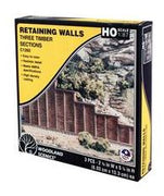 Woodland Scenics: RETAINING WALL TIMBER - HO SCALE (3PC)