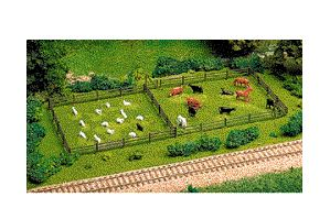 Atlas: HO-RUSTIC 3-RAIL FENCE & GATE KIT #777