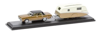 Road Ragers: 1969 Valiant Regal: Highway Cruiser Caravan Set, HO Car. diecast.