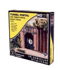 Woodland Scenics: C1254 ONE TIMBER PORTAL SINGLE TRACK - HO SCALE (1PC)