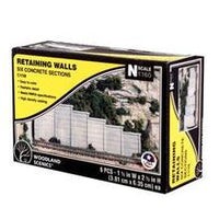 Woodland Scenics: RETAINING WALL CONCRETE - N SCALE (6PC)