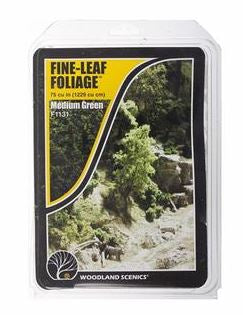 Woodland Scenics: F1131 FINE-LEAF FOLIAGE - MEDIUM GREEN