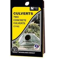 Woodland Scenics: CULVERT CONCRETE - N SCALE 2PC