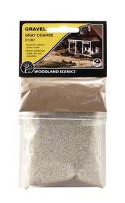 Woodland Scenics: C1287 GRAVEL GRAY COARSE