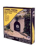 Woodland Scenics: C1253 ONE CUT STONE PORTAL SINGLE TRACK - HO SCALE (1PC)