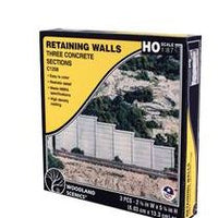 Woodland Scenics: C1258 RETAINING WALL CONCRETE - HO SCALE (3PC)