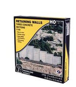Woodland Scenics: RETAINING WALL CONCRETE - HO SCALE (3PC)