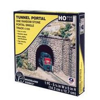 Woodland Scenics: SINGLE PORTAL RANDOM STONE - HO SCALE (1PC)