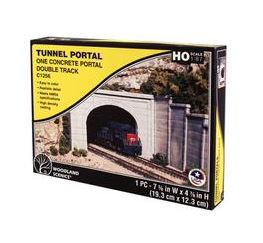 Woodland Scenics: DOUBLE PORTAL CONCRETE - HO SCALE (1PC)