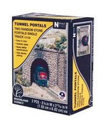 Woodland Scenics: SINGLE PORTAL RANDOM STONE - N SCALE (2PC)