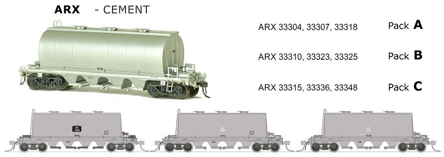 ARX SDS Models: ARX: Cement Wagon: CEMENT GRIME PACK A.