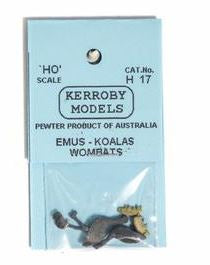 Kerroby Models: H17 EMU, KOALA, WOMBAT (2 OFF EACH) painted