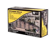 Woodland Scenics: RETAINING WALL CUT STONE - N SCALE (6PC)