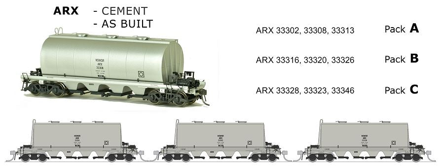 ARX SDS Models: ARX: Cement Wagon: AS BUILT PACK B. *