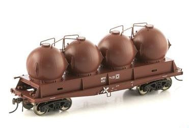 Auscision Models: FISHBELLY UNDERFRAME WAGON, NPTF CEMENT HOPPER, SRA RED - SINGLE PACKS NCH-39