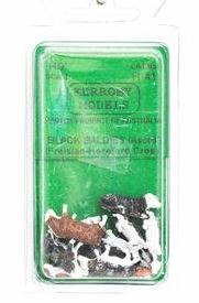 Kerroby Models: H41 BLACK BALDIES (FRIESIAN-HEREFORD CROSS) (10)painted