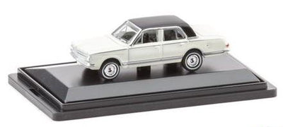 Road Ragers: 1963 Valiant APS: Alpine White/black vinyl roof, HO Car. die-cast