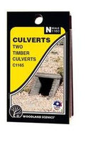 Woodland Scenics: CULVERT TIMBER - N SCALE 2PC