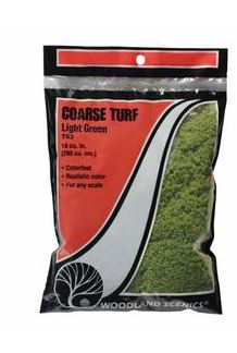 Woodland Scenics: T63 COARSE TURF - LIGHT GREEN