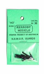 Kerroby Models: H36 GUARDS ONE STANDING, ONE LEANING W/ JACKETS ON