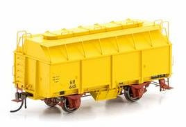 Auscision: GH GRAIN WAGON WITH 3 ROOF HATCHES, VR HANSA YELLOW, 6 CAR PACK VFW-81--AM10644