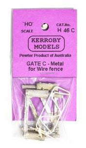 Kerroby Models: H46C. GATES FOR WIRE FENCES UNPAINTED (3).