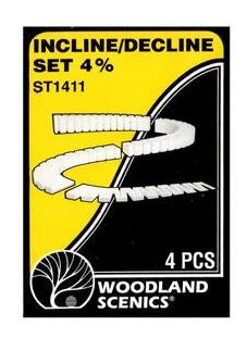 Woodland Scenics: ST1411 INCLINE/DECLINE SET 4% SUBTERRAIN LIGHTWEIGHT LAYOUT SYSTEM