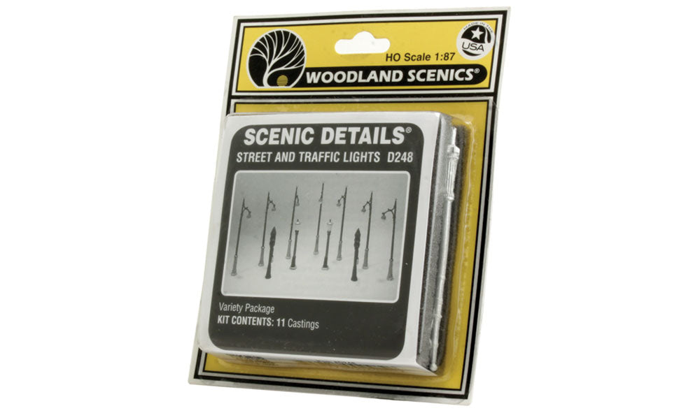 Woodland Scenics - D248 STREET AND TRAFFIC LIGHTS HO SCALE