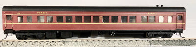 D519 2H: SILVERMAZ MODELS: SBS 2244 2ND CLASS CAR (RTR) INDIAN RED  WITH KADEE COUPLER & METAL WHEELS