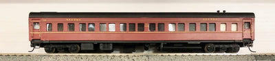 D520 2H: SILVERMAZ MODELS: SFS 2223 2nd CLASS CAR (RTR) INDIAN RED  WITH KADEE COUPLER & METAL WHEELS