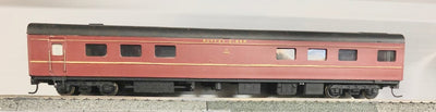 D521 2H: SILVERMAZ MODELS: RS BUFFET DINER CAR (RTR) INDIAN RED  WITH KADEE COUPLER & METAL WHEELS