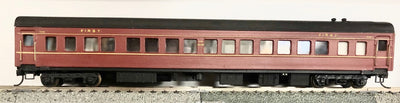 D522 2H: SILVERMAZ MODELS:  SBS 2248 2ND CLASS CAR (RTR) INDIAN RED WITH KADEE COUPLER & METAL WHEELS
