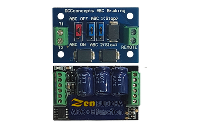 DCCconsepts DCD-ZBHP.6A Zen Black Decoder: O and large scale. 6 fn. Built-in high power stay alive. Includes 1x ABC Module *