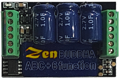 DCCconsepts DCD-ZBHP.6 Zen Black Decoder: O and large scale. Fully protected. 3-5 amps reliably. 6 fun. Built-in high power stay alive *