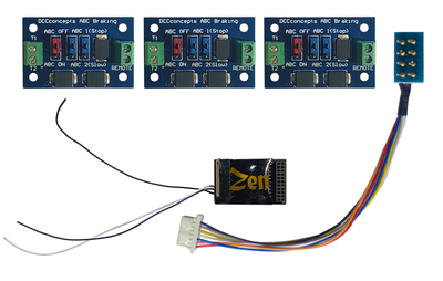 DCCconsepts DCD-ZN218.6S Zen Black Shuttle Pack – Includes Zen Black 218 6 function decoder and 3 ABC modules.